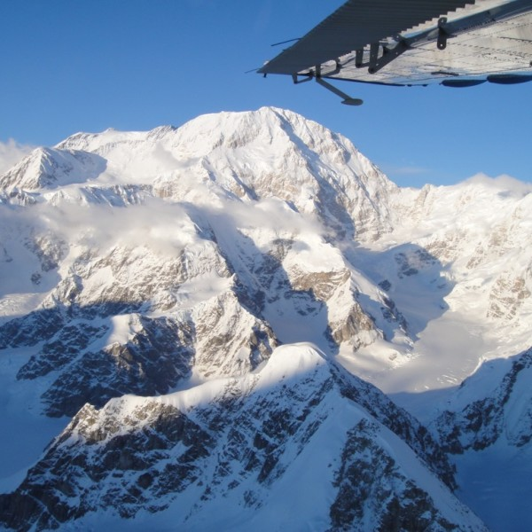 Aerial view of Mt. McKinley.  Denali National Park, Alaska