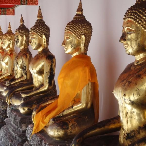 Golden Buddhas.  Bangkok, Thailand