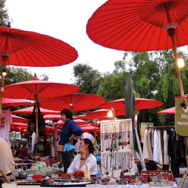 Street market.  Chiang Mai, Thailand