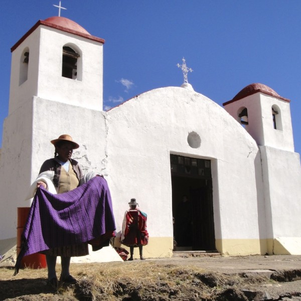 Old Colonial church in the town of La Raya. Peru