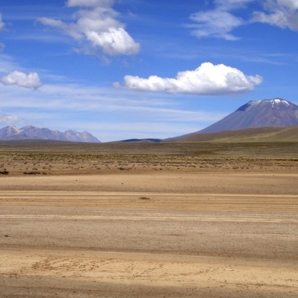 Misti volcano in the outskirts of Arequipa, Peru
