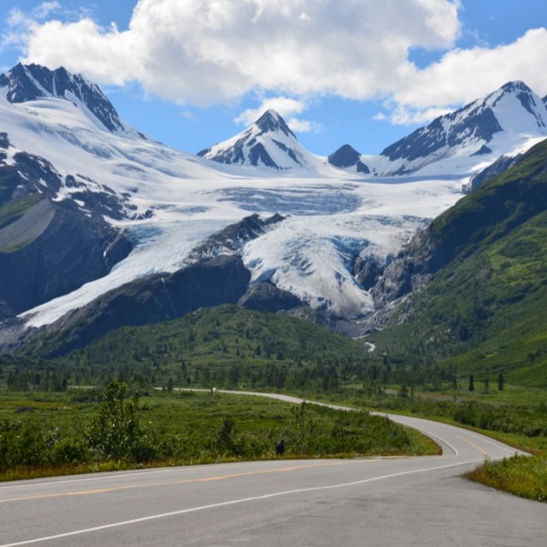 Richardson Highway between Valdez and Copper Center, Alaska