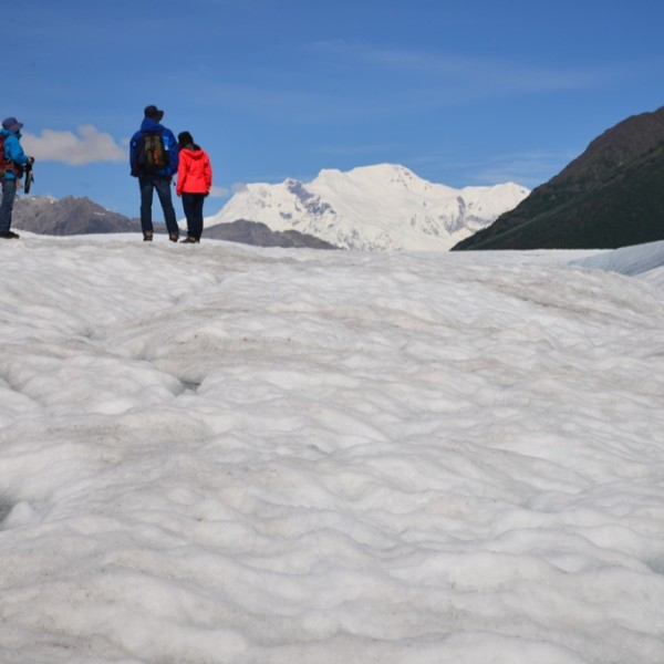 Hiking on Root Glacier.  Wrangell-St. Elias National Park.  Alaska